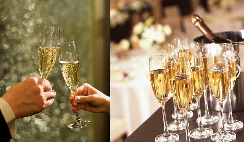 乾杯酒シャンパンプレゼント