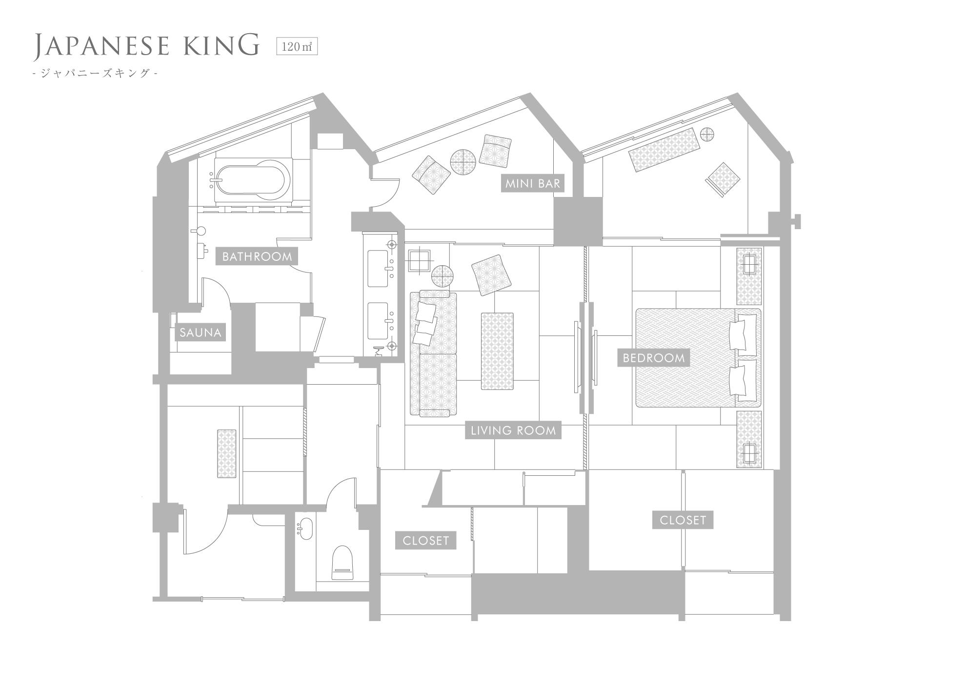 和室 120平米 キング