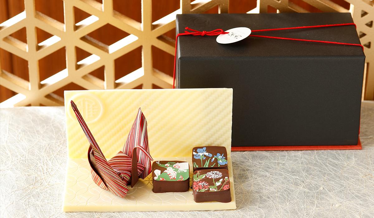 折り鶴チョコ&天井画ショコラセット