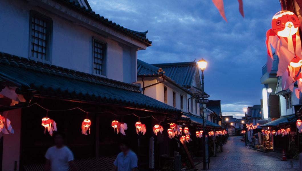 Akari ×ร้อยขั้นตอนการจัดนิทรรศการบันได 2,017 Yanai ปลาทองเทศกาลโคมไฟของทุน