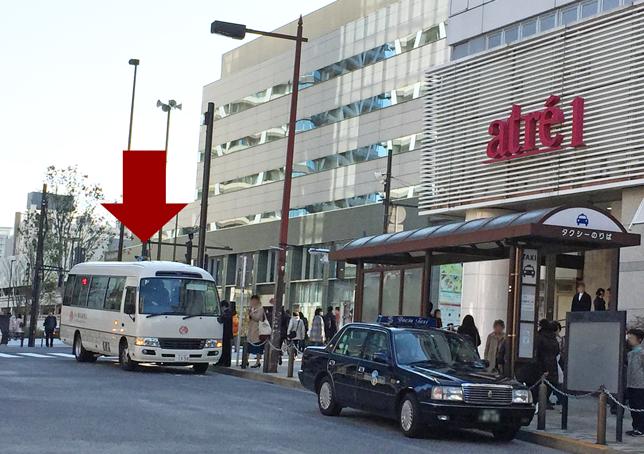 JR 目黒駅 東口 無料バス発着所