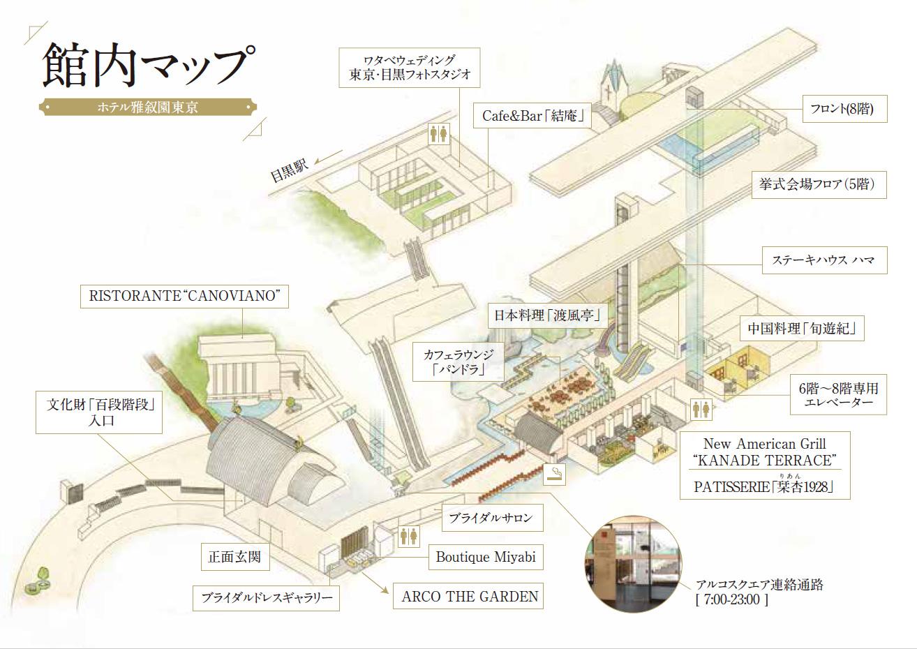ホテル雅叙園東京 フロアガイド