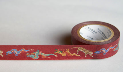 龍と虎マスキングテープ