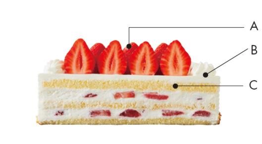 嘉山農園の苺のショートケーキ